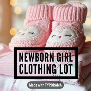 Newborn and 0-3M Girl Clothing Lot